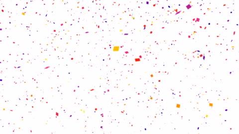 wiederholbare fallenden bunten konfetti mit alpha-kanal 4k - konfetti stock-videos und b-roll-filmmaterial