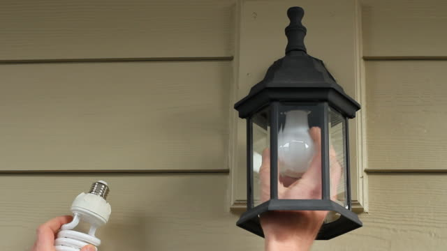 Replacing an Old Lightbulb with a CFL video