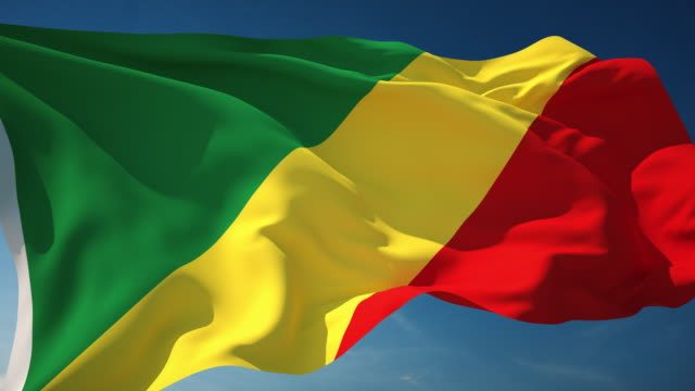 4 K Republik Kongo Flagge-Endlos wiederholbar – Video