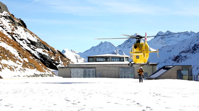 Rescue helicopter (HD) Rescue helicopter in the Alps medevac stock videos & royalty-free footage