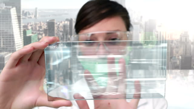 Researcher using technology video