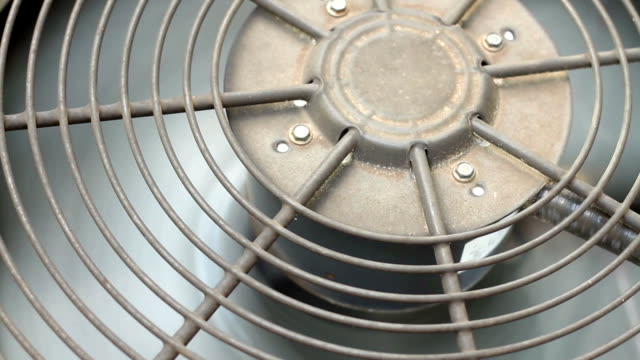 Residential Air Conditioner Compressor Fan Close Up video