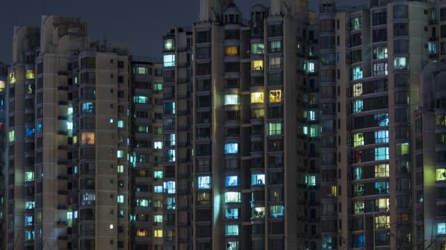 T/L CU HA ZO Residential Area at Night, Beijing video