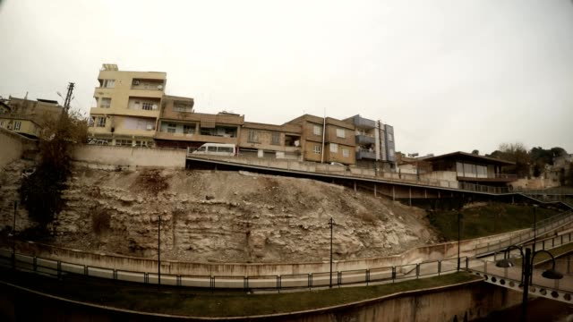 Residential Area under Ancient Canal Sanliurfa Cloudy Wintry Day video