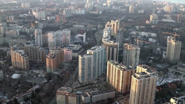 Residential district on Black Sea coast. Odessa, Ukraine, January 2019.