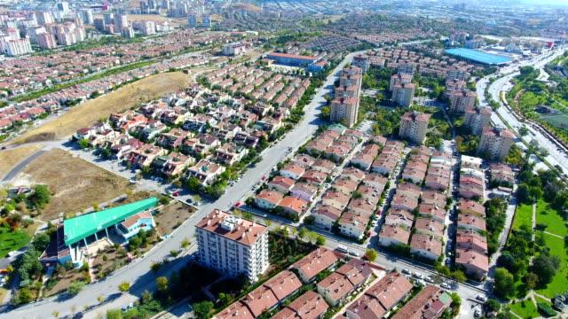wohnquartier blick auf ankara - ankara türkei stock-videos und b-roll-filmmaterial
