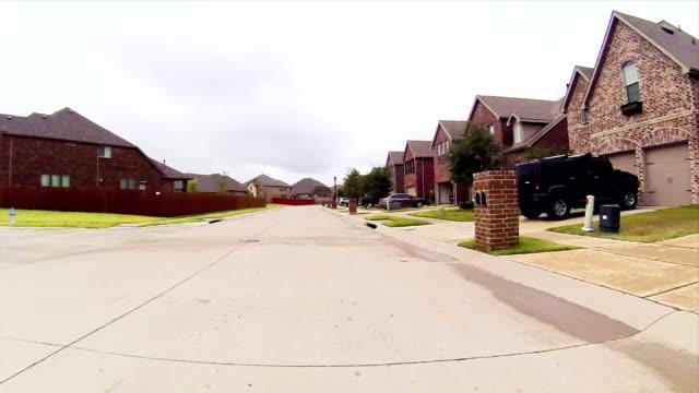 Residential estate street driving video