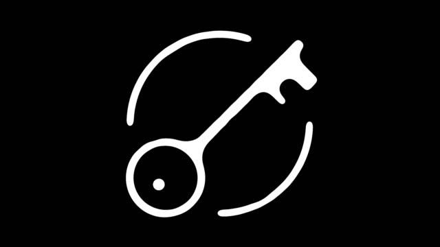 알파와 함께 주거 서비스 라인 아이콘 애니메이션 - home icon 스톡 비디오 및 b-롤 화면