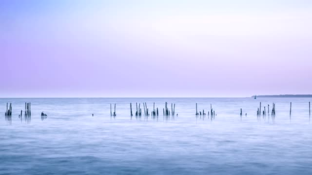 4K resolution cinemagraph time lapse, minimal style landscape in dusk, abstract background with pastel filter. video
