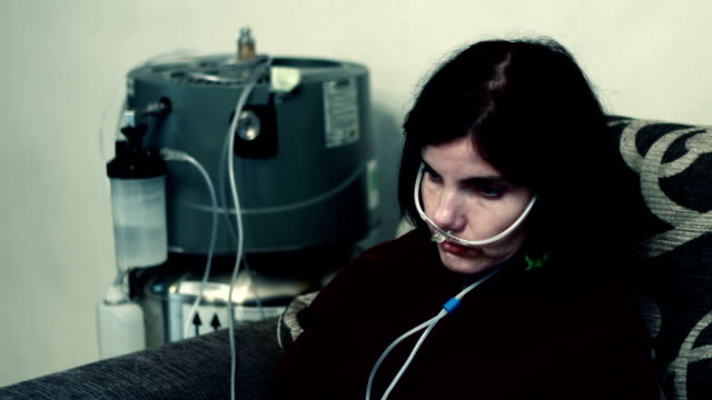 respiratory disease depressed woman with Respiratory disease emphysema stock videos & royalty-free footage