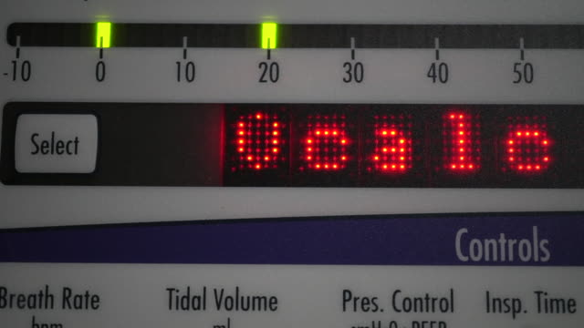 stockvideo's en b-roll-footage met respiratoire - ventilator bed