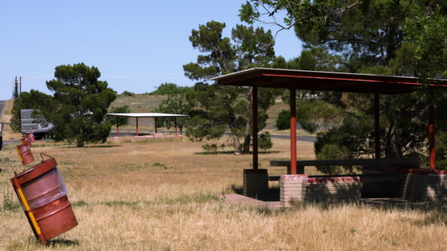 Rest Stop on Side of Highway in Rural West Texas