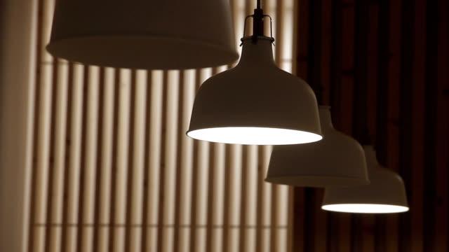 restaurant food restaurant food lamp shade stock videos & royalty-free footage