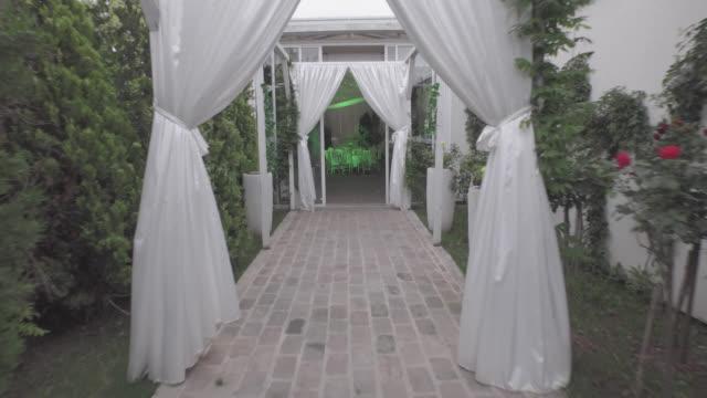 4K : Restaurant interior video