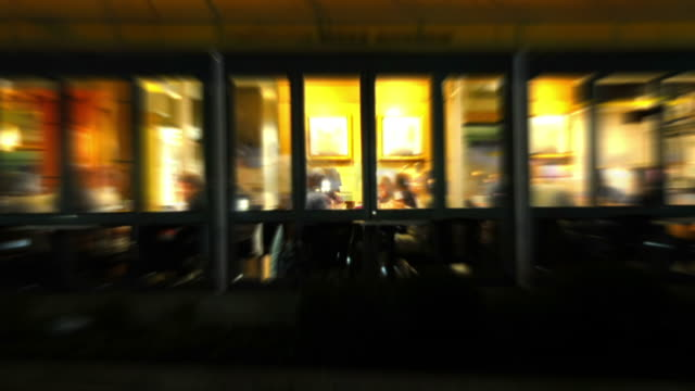 Restaurant Nightlife Time Lapse Loop video