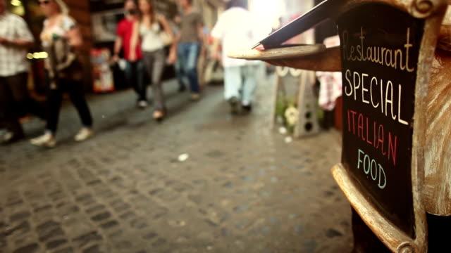 Restaurant on the Street in Rome: Italian Food