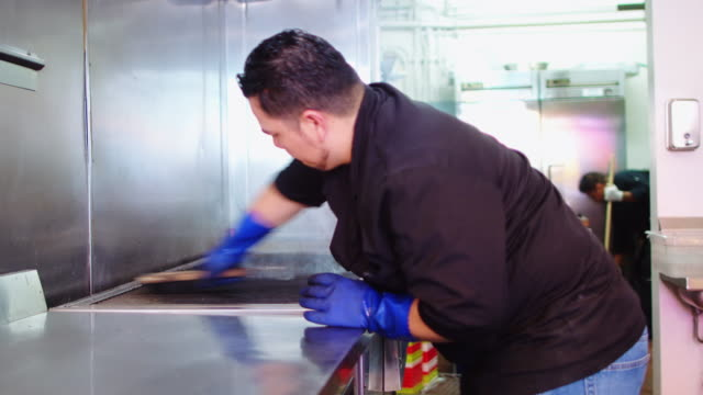Restaurant Workers Cleaning Kitchen video