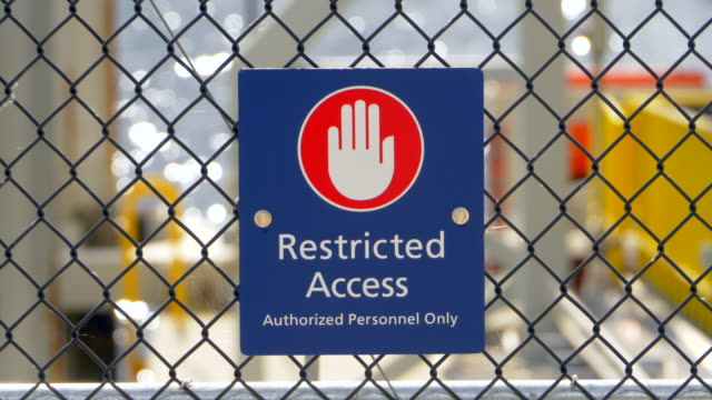 Restricted Access Sign, No Entry Stop Symbol, Danger Authorized Persons Only video