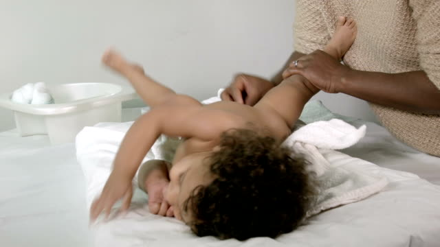 HD: Resuable Nappy Diaper Changing video