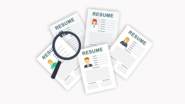 Resume Applicant. Choosing a candidate for a vacant job