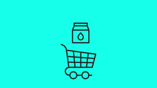 Retail Store Icons Set 2 - Vector Animate Retail Store Icons Set 2 Vector Animate 4K on Green Screen. shopping cart stock videos & royalty-free footage