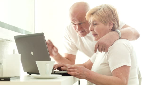 Retired couple spending time together video