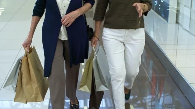 Retired Women Walking Through Shopping Center video