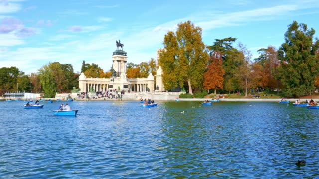 Retiro Park at Madrid Spain