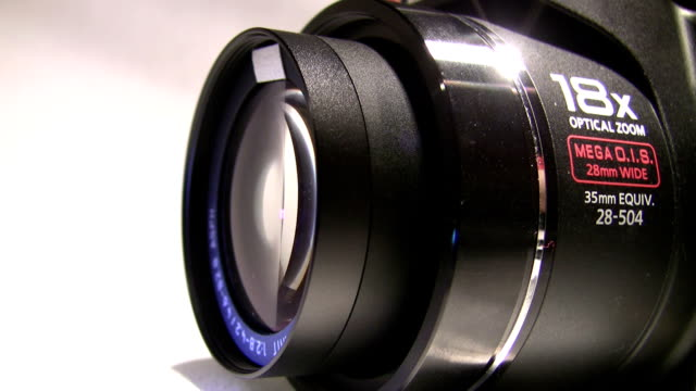 Retracting Wide Angle Camera Lens. HQ. video