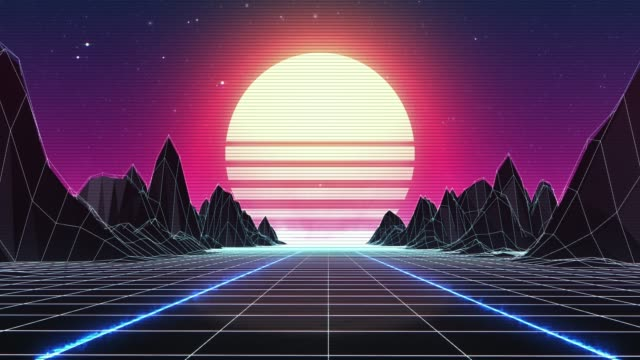 Retro 80s Background - Loopable Retro 80s Background - Loopable laser stock videos & royalty-free footage