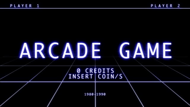 Retro Arcade Game Screen - Title Menu video