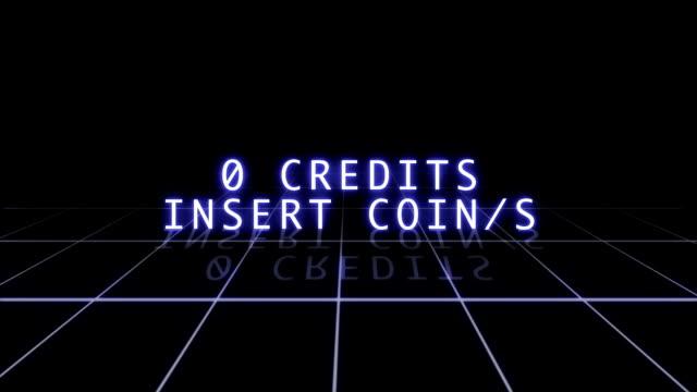 Retro Arcade Game Screen video