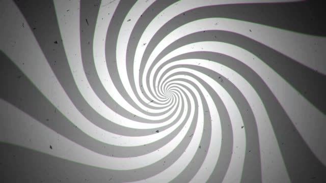 Retro Black and White Spiral Time Tunnel video