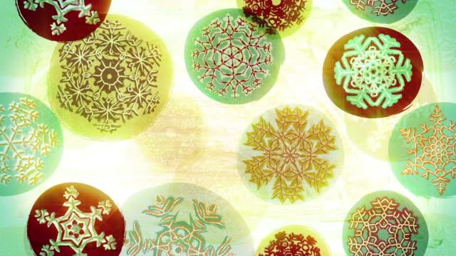 Retro Christmas snowflakes loop video