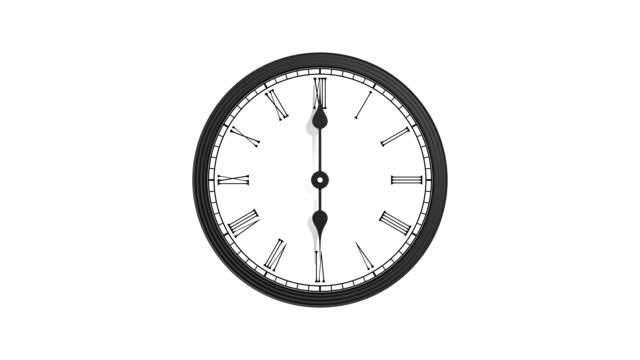 Retro clock - loop, alpha channel video