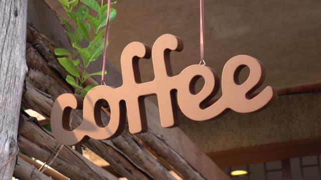 Retro Coffee Shop Sign video