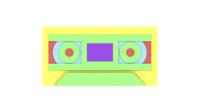 Retro electronics morphing animation v2 video