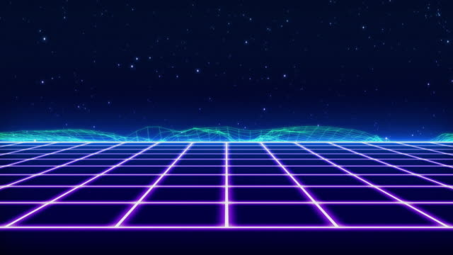 Retro Futuristic visual video