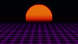 Retro Futuristicgrid And Sunset 80s Retro Scifi Background Stock Video -  Download Video Clip Now