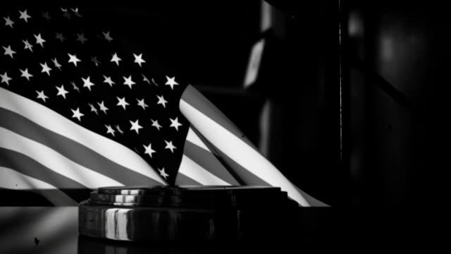 Retro Judges's Gavel with USA Flag video