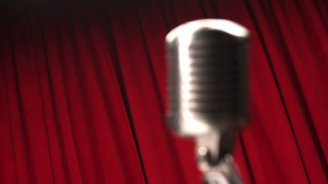 HD: Retro Microphone With Red Curtain video
