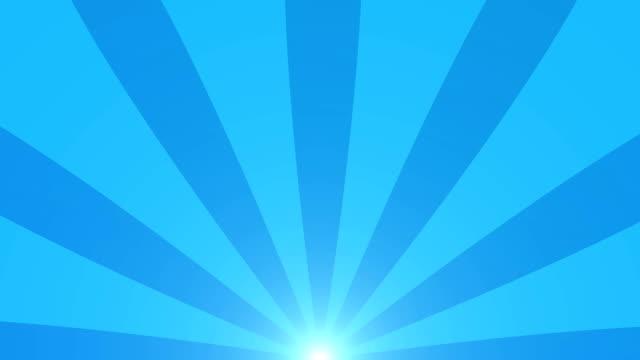 Retro radial background, blue tint video