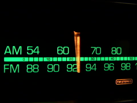 Retro radio dial tuning video