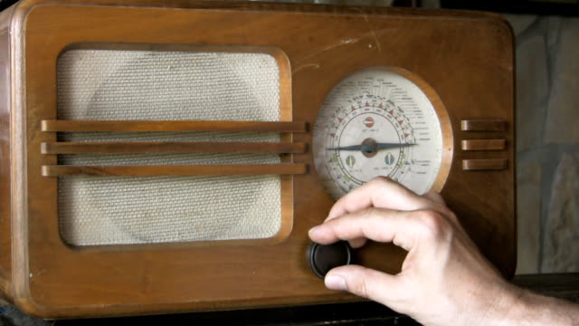 radio retrò - radio video stock e b–roll