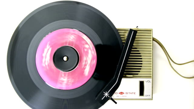retro record player video
