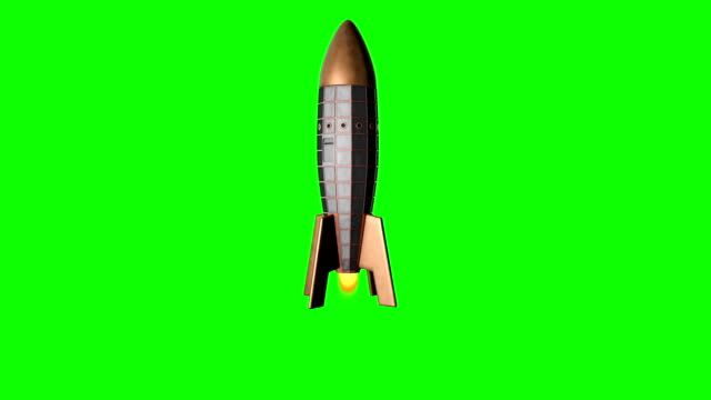 Retro Space Rocket Lift Off video