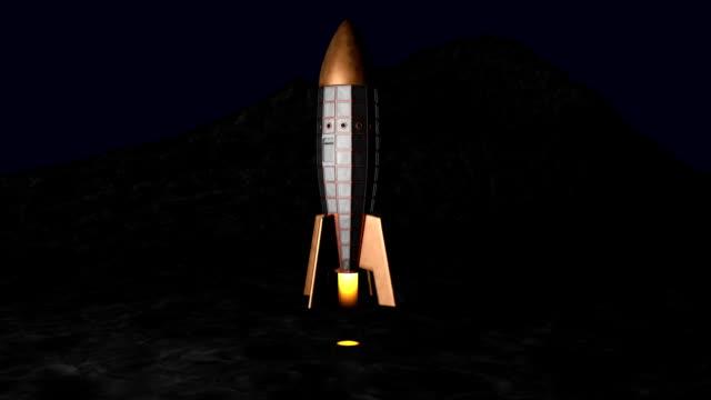Retro Space Rocket Night Lift Off video