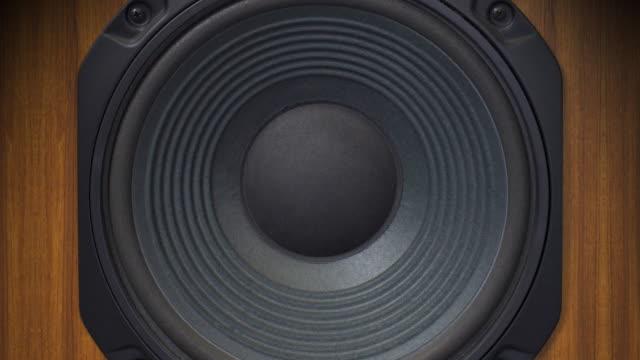 retro z głośników bass bicie (audio - głośnik filmów i materiałów b-roll