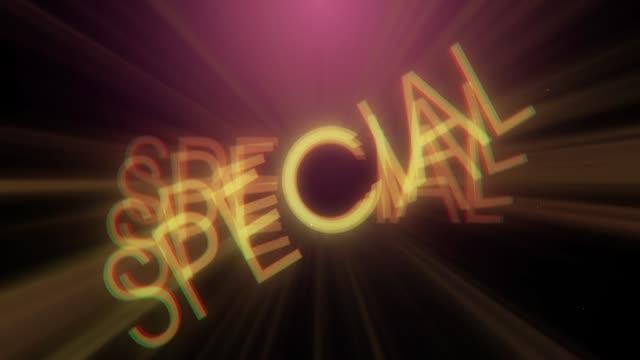 Retro Special Presentation Background Plate video