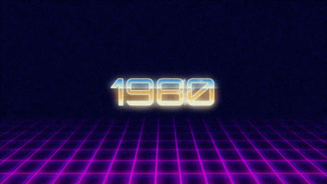 Retro Style Titel 1980s Intro video